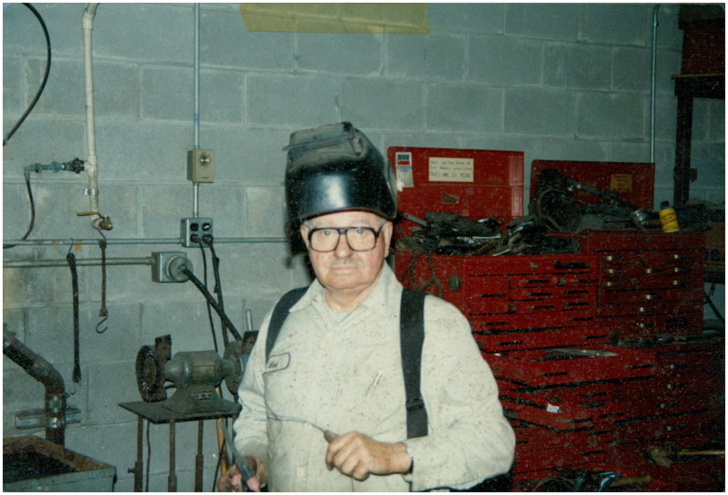 Bob Werts with welder